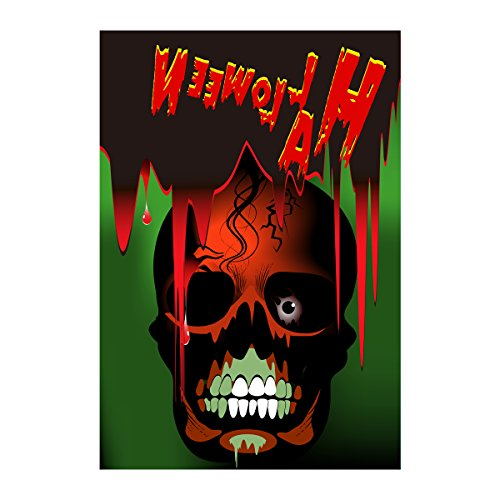 Decorative Accessories Halloween Party Flag Scary Skull Banner 100% Polyester And Waterproof Fade And Mildew Resistant Flags Custom Double Sided Banners 28 X 40 Inch