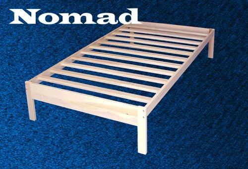 Fancy Nomad Solid Hardwood Platform Bed Frame Twin Size