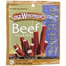 Old Wisconsin Beef Snack Sticks, 8-Ounce Pouches (Pack of 6)