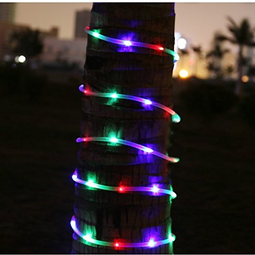 100LED 40FT Colorful Solar Rope Light Waterproof Outdoor