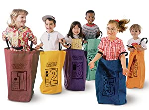 Learning Carpets Jumping Bags - Set Of 6 from Learning Carpets