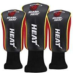 Miami Heat Black-Red 3-Pack Golf Club Headcovers by McArthur