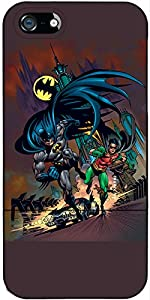 Coveroo Wallet Folio Cell Phone Case for iPhone 5/5S - Batman & Robin Running at Gotham City Store