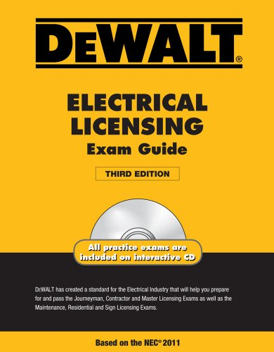 DEWALT Electrical Licensing Exam Guide, Based on the NEC 2011 - DEWALT - 1111545502 - ISBN:1111545502