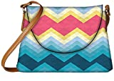 Snoogg Awesome colour chevron Womens Carry Around Sling Bags