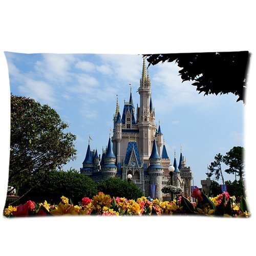 Disney World Castle Pillowcase Rectangle Zippered Two Sides Design Printed 20x30 pillows Throw Pillow Cover Cushion Case Covers (Disney World Pillow compare prices)