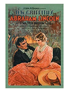 D.W. Griffith's Abraham Lincoln Wall Decal 18 x 24 in (Without border: 15 x 22 in)