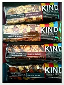 Kind Nuts Spices Bars Variety Pack - 8 Bars by Kind
