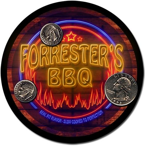 Forrester'S Barbeque Drink Coasters - 4 Pack