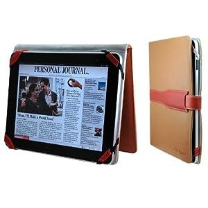 CrazyOnDigital Folio Light Brown Leather Case For Apple iPad