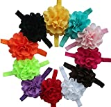 Qandsweet Baby Girl's Headbands Mesh Flower Hair Accessories (11 Pack)