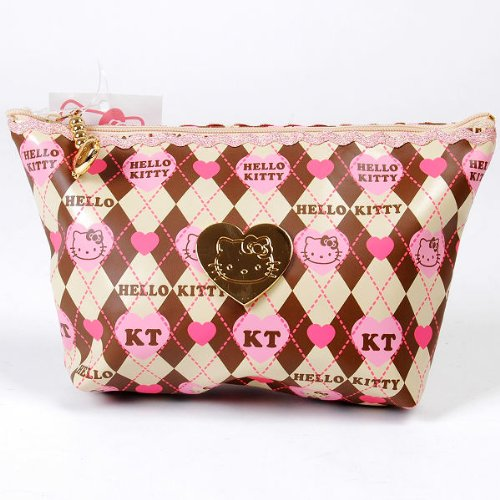 Hello Kitty Mini Handbag Makeup Cosmetic Bag Case