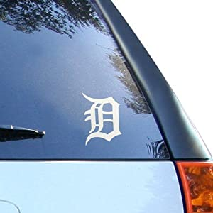 MLB Detroit Tigers 5'' x 6'' Silver Window Graphic Decal