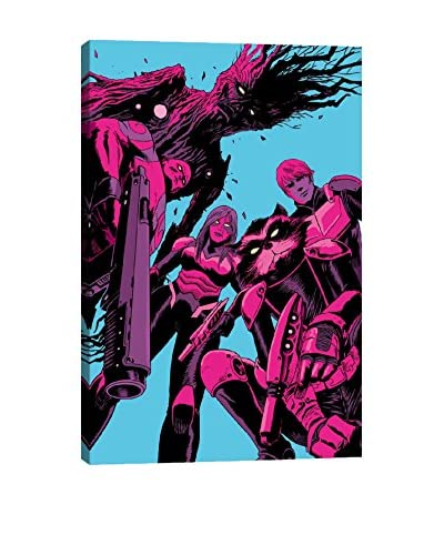 Guardians of The Galaxy Pink Poster Gallery-Wrapped Canvas Print