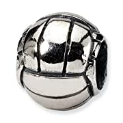 Sterling Silver Volleyball Charm Bead Fits Pandora Chamilia Biagi Bracelet