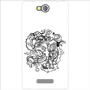 Sony Xperia C - Lazer Print Wriggled Designer Cases