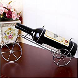 Di Grazia Creative Vintage Bicycle Bronze Silver Wine Bottle Holder Simple Iron Wine Rack Metal Crafts Beer Bar Red Wine Racks