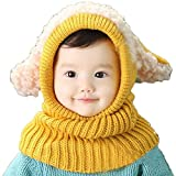FEITONG(TM) Lovely Winter Baby Kids Girls Boys Warm Woolen Coif Hood Scarf Caps Hats