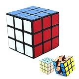 3階 ルービックキューブ magic cube 競技用 2colorパズル マジック 玩具 おもちゃ オモチャ 子育て 子供 (ブラック)
