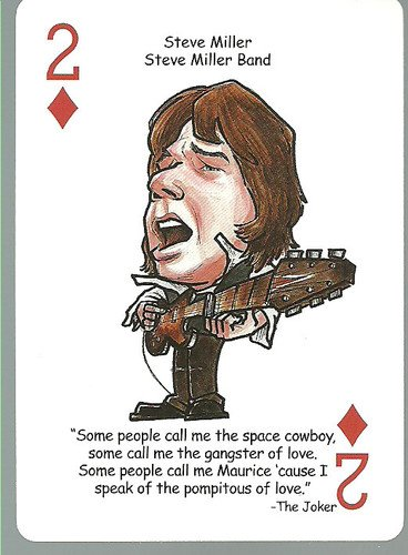 (3) Steve Miller Band Rock n Roll - ODDBALL Playing cards