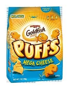 Pepperidge Farm Goldfish Puffs, Mega Cheese, 7 Ounce