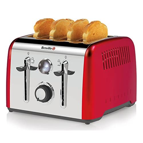 Breville Aurora 4 Slice Toaster, Red