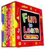 Alligator books Red Fun to Learn Mini Library 6 Board Books Collection Set (A little book at the zoo, A little book of pets, A little book at the shops, A little book of seasons, A little book of holiday)