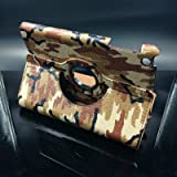 ISKY Ipad5 Green Camouflage iapd air 360 rotating case smart cover for apple 5th gernation touch pad