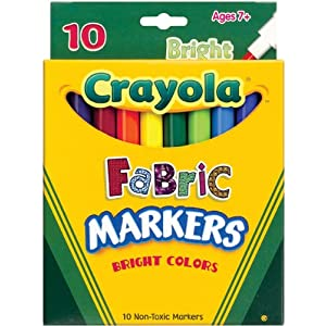 Crayola Fabric Markers-10/Pkg