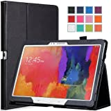Moko Samsung Galaxy Tab PRO 10.1 Case - Slim Folding Cover Case for Galaxy TabPRO 10.1 Android Tablet, BLACK (With Smart Cover Auto Wake / Sleep. WILL NOT Fit Samsung Galaxy Tab 4 10.1)
