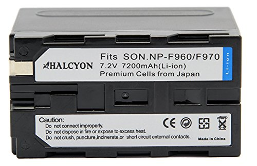 Sony DCR-VX2000 Camcorder Battery Lithium-Ion (6900 mAh) - Halcyon Replacement for Sony NP-F970 Battery (Halcyon Extra Battery compare prices)
