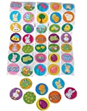 "5 Rolls ~ Spring Stickers ~ 500 Stickers Total ~ Assorted Designs ~ Approx. 1.5"" ~ New ~ Bunnies, Chicks, More..."