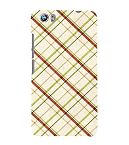 99Sublimation Cross Checks In Multi Colour Pattern 3D Hard Polycarbonate Designer Back Case Cover for Micromax Canvas Fire 4 A107