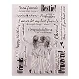 GIMITSUI Store Silicone Clear Stamp (Friends) (Tamaño: Friends)