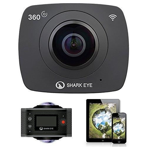 SHARK 360 VR CAM EYE Videokamera (H.264) WIFI 360-Grad-Panorama, Action-Kamera 1920 * 960 30fps 2 Objektive Weitwinkel Fisheye