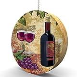 Red Wine and Grapes Hardwood Oak Fan / Light Pull