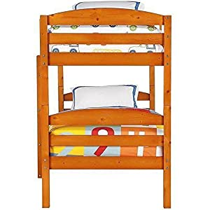 Mainstays Twin over Twin Wood Bunk Bed (Pine)