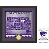 "NCAA Kansas State Wildcats ""State"" Bronze Coin Photo Mint, 18 "" X 14"" X 3"", Bronze"