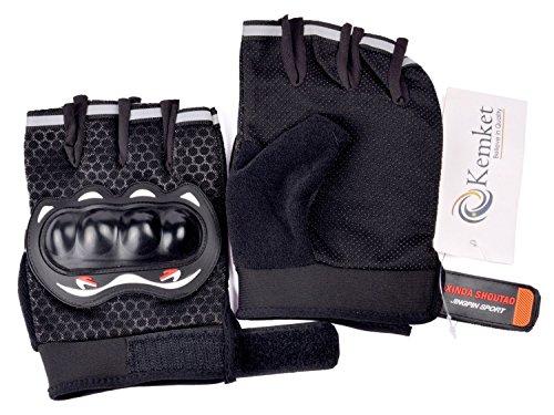 Finger Gloves moto equitazione mezza ciclismo Guanti per sport all'aperto, campeggio, escursionismo Cross Country-Guanti senza dita