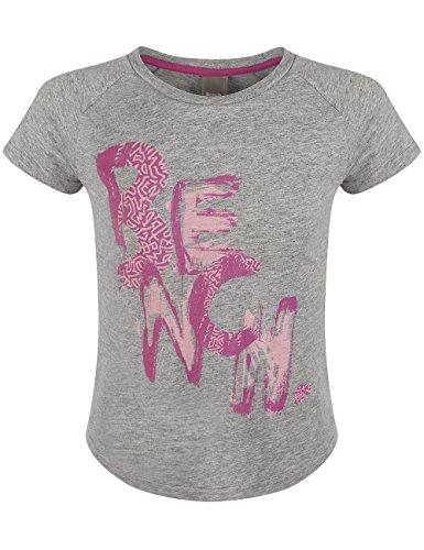 Bench - T-shirt PENNYFACE, Maglia a maniche lunghe Bambina, Grigio (Grey Marl), 4 anni (Taglia Produttore: 104)