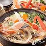 【海鮮市場 北のグルメ】海鮮コク味噌ちゃんこ鍋 ( ずわいがに 鮭 あさり いか 帆立 甘えび ラーメン ) 鍋 贈答