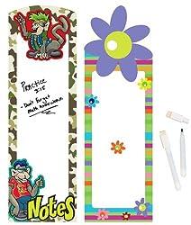 Geddes Locker Rockers White Board Assortment - Set of 12