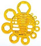 Aristo AR5025 Abrundungs- und Mutternschablone  transparent gelb