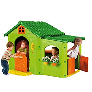 feber 55391 spielhaus gr n gartenhaus kinderhaus neu ovp ebay. Black Bedroom Furniture Sets. Home Design Ideas