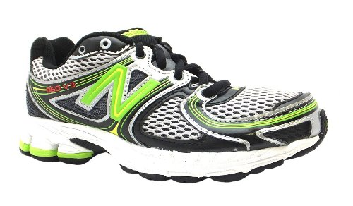 Boy's 860v3 New Balance Black/grey/lime Lace Up Running Trainers