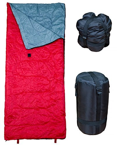 Lightweight Sleeping Bag by RevalCamp. Indoor & Outdoor use. Great for Kids, Teens & Adults. SATISFIED OR MONEY-BACK! Ultra light and compact bags are perfect for hiking, backpacking, camping & travel