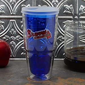 MLB Tervis Tumbler Atlanta Braves 24oz. Color Tumbler Pro with Travel Lid - Navy Blue by Tervis Tumbler