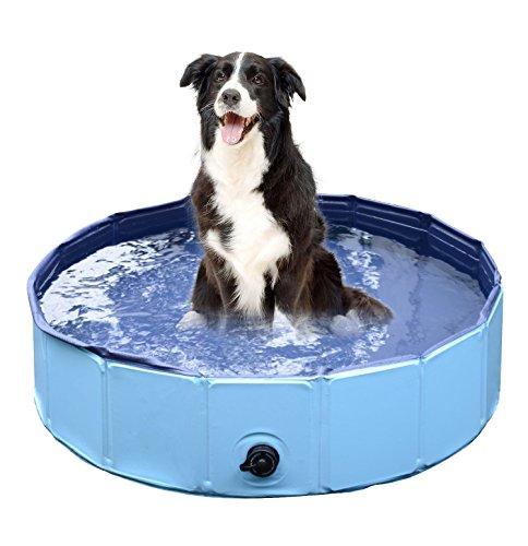 Jasonwell Foldable Dog Pet Bath Pool Collapsible Dog Pet Pool Bathing Tub Fo