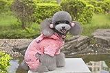 【ノーブランド品】犬の服 洋服  可愛い 散歩 プレゼント  ペット  ドレス 衣装 服 ソフト 暖かい コート 水玉 (M, ローズレッド)