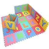 E Support? Nuevo Diversi�n Ni�o suave espuma de EVA estera del juego del alfabeto Frutas Animales N�meros GYM Puzzle piso bricolaje juguete juego de las baldosas Mat Alfombra Mat Ni�o Mat Carta juego Puzzle